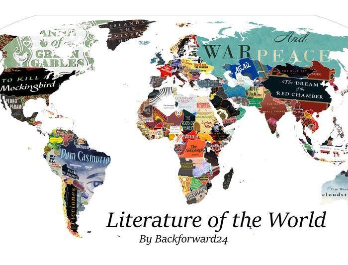 Los libros que representan a cada país en un mapa interactivo