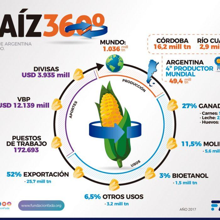 """Maíz 360ª: Datos reveladores de FADA sobre """"una de las estrellas productivas"""" del país"""