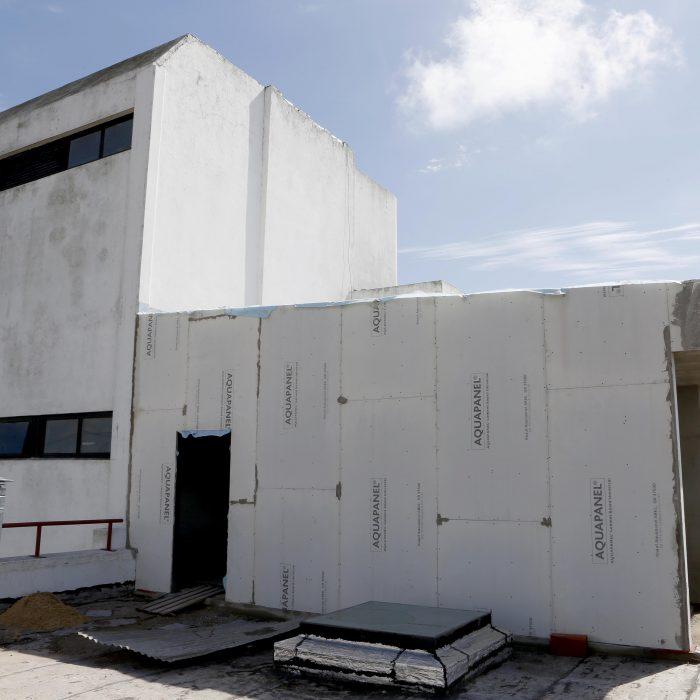 Obras de ampliación en edificio de la Escuela Universitaria de Recursos Humanos del Equipo de Salud