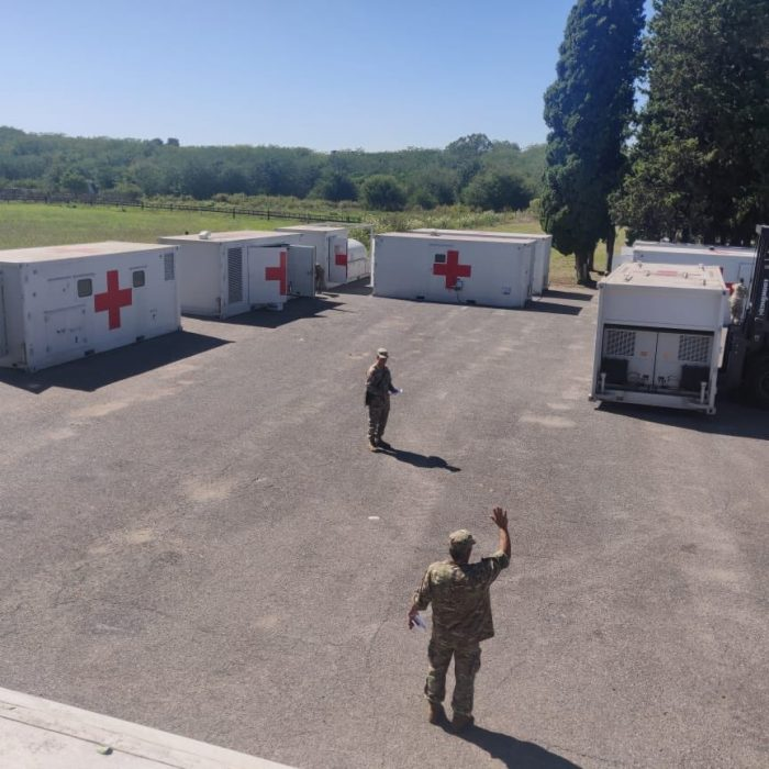 El Hospital Militar Reubicable del Ejército podrá atender a más de 100 pacientes con coronavirus