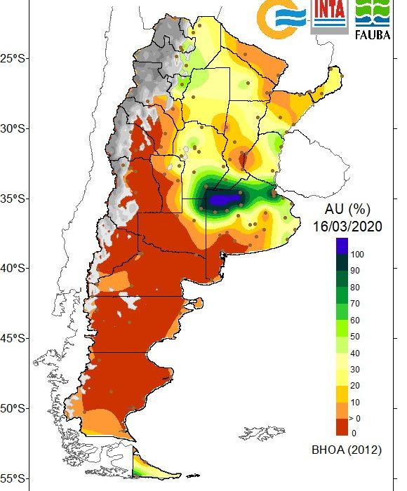 Se revierte el déficit hídrico en la zona núcleo