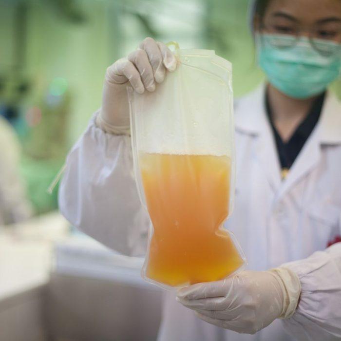 Pacientes recuperados podrán inscribirse para donar plasma