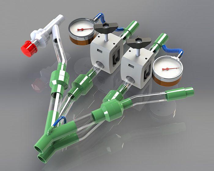 Científicos argentinos diseñaron un dispositivo que permite que dos pacientes usen un mismo respirador de manera segura