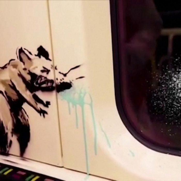 Las ratas de Banksy invaden un subte de Londres para concientizar sobre el uso del tapabocas