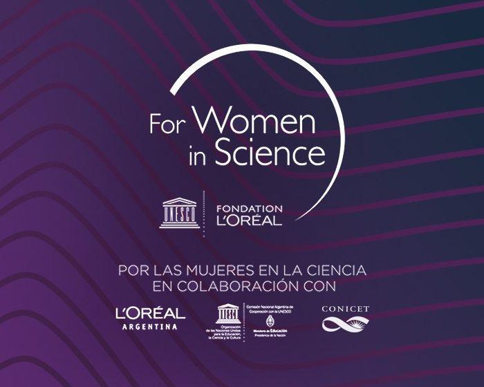 """Se abre la convocatoria para el Premio Nacional L'Oréal-UNESCO """"Por las Mujeres en la Ciencia"""" en colaboración con el CONICET"""