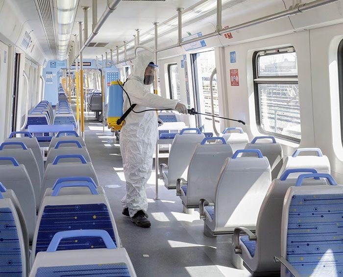 Probaron con éxito una nueva fórmula de desinfección para el transporte público