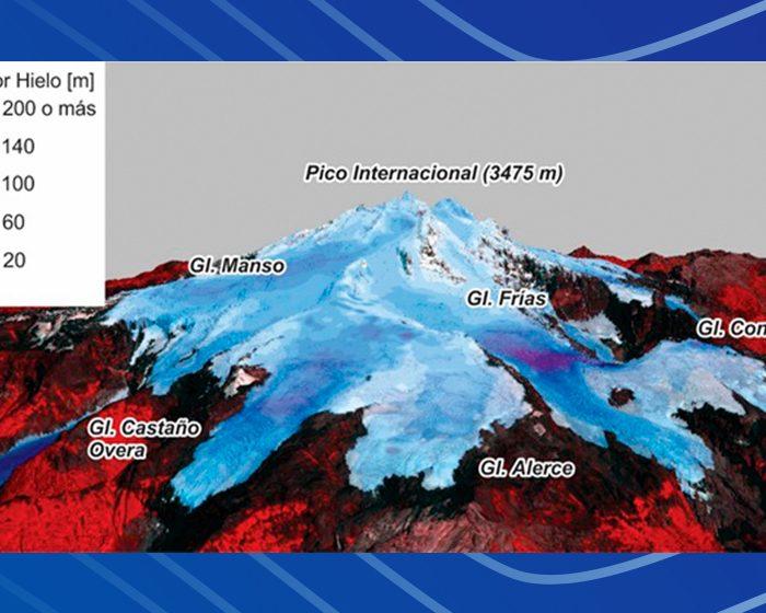 Estiman el espesor y volumen de los glaciares del Monte Tronador
