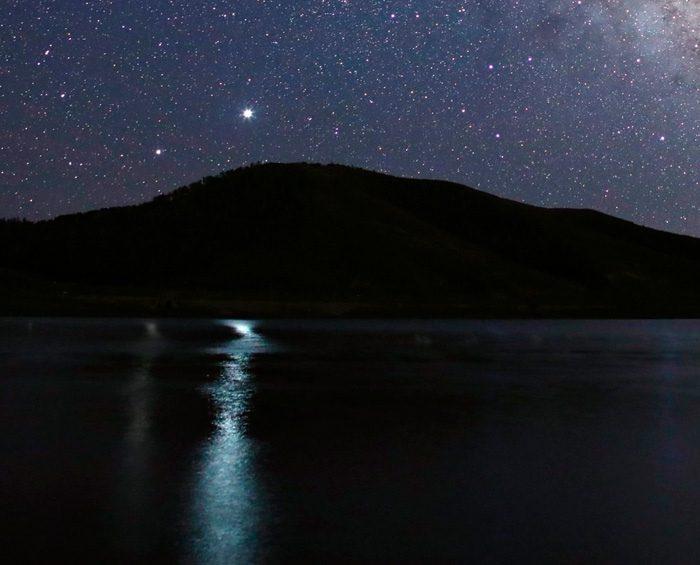 Júpiter y Saturno se acercaron durante la Gran Conjunción o Estrella de Navidad