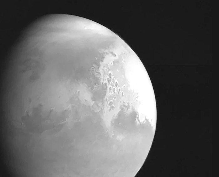 Difundieron imágenes de Marte tomadas por una sonda espacial china