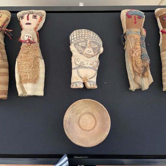 Restituyeron quince piezas prehispánicas al Perú, que eran ofrecidas desde un sitio online